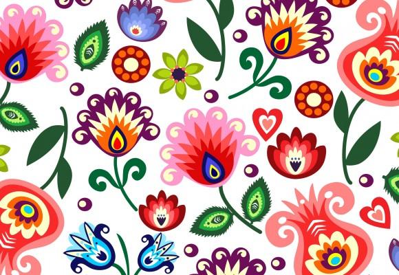 Kwiaty Polskie -  tym razem na ludowo i kolorowo!
